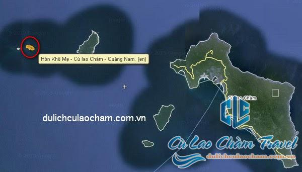 Bảng đồ Hòn Khô Mẹ trên đảo Cù Lao Chàm