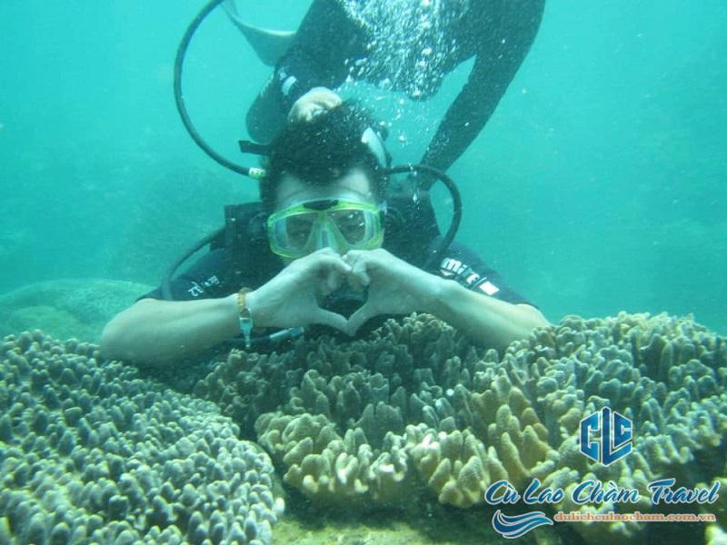 lặn ngắm san hô bằng bình khí